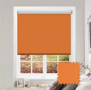 Orange Roller Blind - Bahamas Orange
